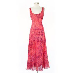 Jones Wear Long Coral Paisley Floral Maxi Dress 14